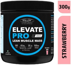 Sinew Nutrition Elevate Pro With Digestive Enzymes 300 g Mass Gainer Powder Strawberry