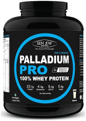 Sinew Nutrition Palladium Pro Whey Protein With Digestive Enzymes 3 kg (Banana Flavour)