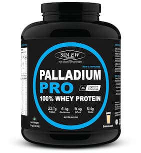 Sinew Nutrition Palladium Pro Whey Protein With Digestive Enzymes 3 kg (Butterscotch Flavour)