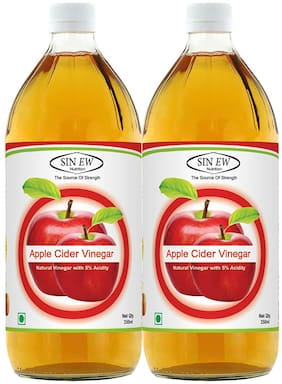 Sinew Nutrition Raw Apple Cider Vinegar (Filtered & Unpasteurised) 350 ml (Pack of 2)