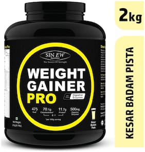 Sinew Nutrition Weight Gainer Pro With Digestive Enzymes Kesar Badam Pista 2 kg