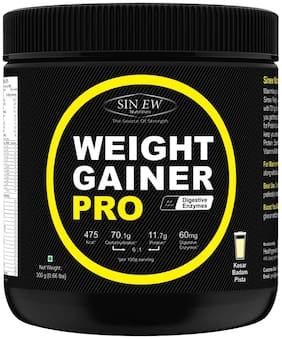 Sinew Nutrition Weight Gainer Pro with Digestive Enzymes;Kesar Badam Pista;300 g