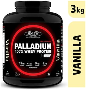 Sinew Nutrition Palladium Whey Protein With Digestive Enzymes 3 kg (Vanilla)