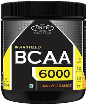 Sinew Nutrition Instantized BCAA 2:1:1 200 g /0.44lb (Tangy Orange) - 25 Serving