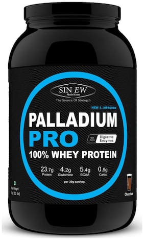 Sinew Nutrition Palladium Pro Whey Protein With Digestive Enzymes 1 kg (Chocolate Flavour)