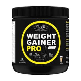 Sinew Nutrition Weight Gainer Pro with Digestive Enzymes;Coffee;300 g