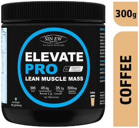 Sinew Nutrition Elevate Pro With Digestive Enzymes 300 gm Mass Gainer Powder Coffee