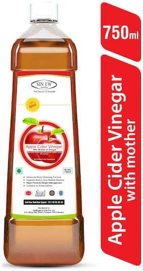 Sinew Nutrition Raw Apple Cider Vinegar (Unfiltered & Unpasteurised) With Strands of Mother 750 ml