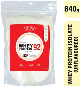 Sinew Nutrition Instantised Whey Protein Isolate 92% Raw & Unflavoured 840 gm (28 Servings) Supplement Powder