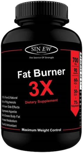 Sinew Nutrition Natural Fat Burner 3X (Green Tea Green Coffee & Garcinia Cambogia Extract) - 700 mg (90 Veg Capsules)