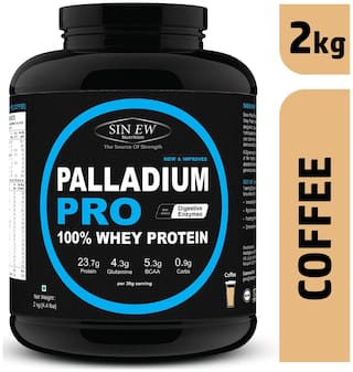 Sinew Nutrition Palladium Pro Whey Protein With Digestive Enzymes 2 kg (Coffee Flavour)