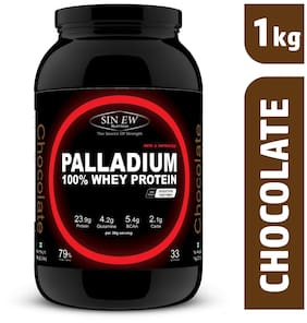 Sinew Nutrition Palladium Whey Protein With Digestive Enzymes 1 kg (Chocolate)