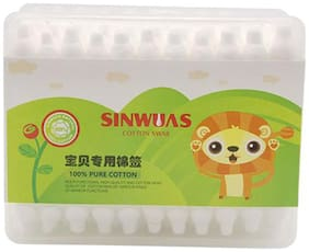 SINWUAS Cotton Ear Buds - Two Sided    (Pack of 55 pieces)