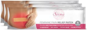 SIRONA - Feminine Pain Relief Patches - 15 Patches (3 Pack - 5 Patches Each)