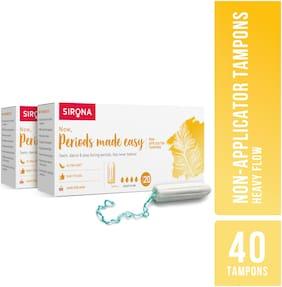 SIRONA - Premium Digital Tampon (Heavy Flow) - 40 Tampon (2 Pack - 20 Tampon Each)