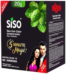 Siso Hair Colour Shampoo (20g Sachets - 10 pcs X 2)