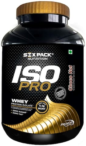 Six Pack Nutrition IsoPro 100 % Whey Protein Isolate 2 Kg (62 Servings) Choco Nut (Pack of 1)