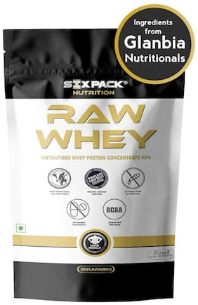 Six-Pack-Nutrition 100% Raw Whey Protein Powder 8.8 lb/4 kg - 133 Servings - Unflavored
