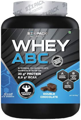 Six Pack Nutrition Whey Abc L Arginine Beta Alanine Creatine Monohydrate - Double Chocolate - 2Kg