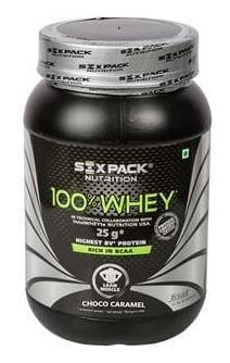 Six-Pack-Nutrition 100% Whey Protein Powder 2.2 lb/1 kg - 31 Servings - Choco Caramel
