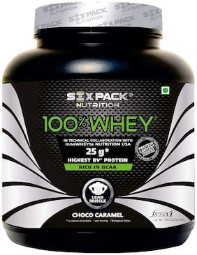 Six-Pack-Nutrition 100% Whey Protein Powder 4.4 lb/2 kg - 62 Servings - Choco Caramel