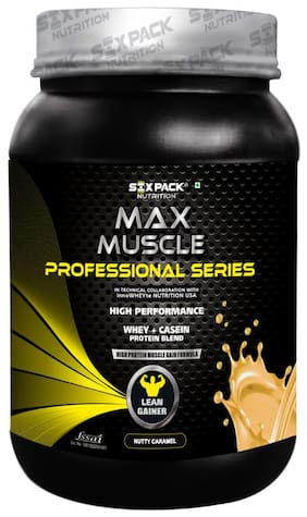 Six Pack Nutrition Max Muscle Professional Series Lean Gainer - 1 kg (Nutty Caramel)