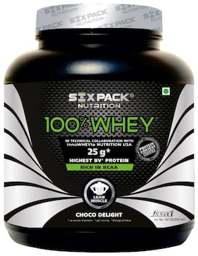 Six Pack Nutrition 100% Whey Protein Powder - 2 kg/ 4.4lbs (Choco Delight)