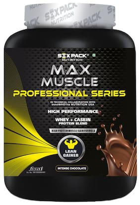 Six Pack Nutrition Max Muscle Professional Series Lean Gainer - 2 kg/4.4lbs (Intense Chocolate)