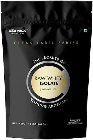 Six Pack Nutrition Whey Isolate Protein Powder 90% Unflavored - 27 g Protein , 6 g BCAA, 19.5 g EAA's Per Serving, 30 Servings - 908 g