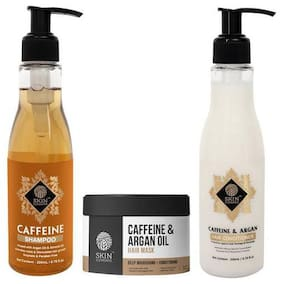 Skin Elements Anti Hairfall Pack With Caffeine Shampoo, Conditioner & Mask Combo Pack of 3,200 ml
