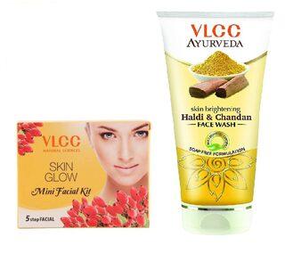 Skin Tightening Mini Facial Kit + Haldi & Chandan Face Wash 100Ml