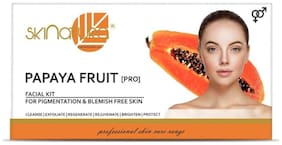 Skinatura Papaya Fruit (Pigmentation & Blemish Free Skin) Facial Kit,115g each (Pack of 1)