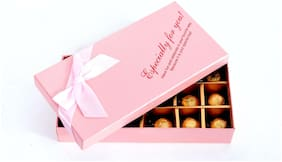 Skylofts 18pc chocolates gift box for Birthday Valentine's or any occasion - Pink