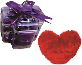 Skylofts Stylish Chocolate Box with A cute Heart Soft Toy ( 9pcs)