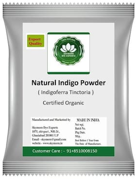 SkyMorn Indigo Powder 100% Organic and Natural (1 Packet) (200 g)