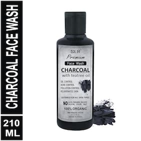 SLR Charcoal Face Wash - with Teatree (OIL CONTROL, ACNE CONTROL, POLLUTION CONTROL, REJUVENATES SKIN) - 210 ml