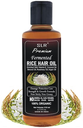 SLR Premium Fermented Rice Hair Oil - Increases Strength & Promotes Growth NO Mineral Oil, Silicones & Synthetic Fragrance - 210 Ml