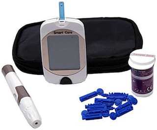 Smart Care Diabetes Blood Glucose Testing Kit, METER, 10 Test Strips, 10 Lancets, Lancing Device, Manual & Carry Case