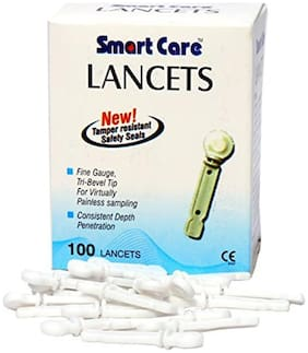 Smart Care Lancets Needle Flat (White)