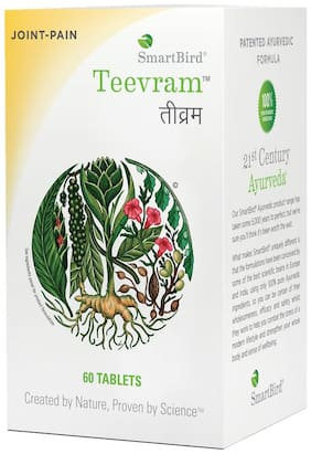 SmartBird Teevram Pain Relief Tablets (Pack of 60 tablets)
