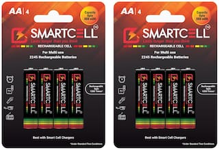 Smartcell AA Ni-MH Rechargeable Battery 800mAH Pack of 8