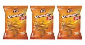Snac Atac Cornado Cheese Burst 60 g ( Pack of 3 )