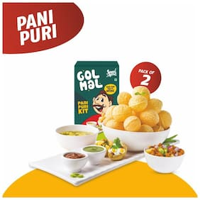 Snac atac Instant Panipuri goal gappa ready to fry 280 g (Pack Of 2)