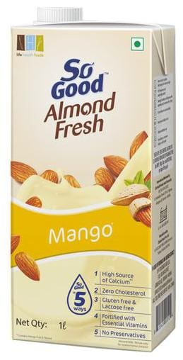 So Good Almond Fresh Milk - Mango Flavour 1 L