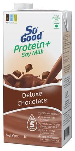 So Good Soy Milk - Protein +  Deluxe Chocolate 1 Lt