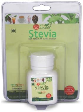 So Sweet Stevia Dispenser Natural Sweetener Sugarfree 500 Tablet (Pack of 1)