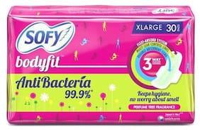 Sofy Sanitary Pads Body Fit Antibacteria Xlarge 30 pcs