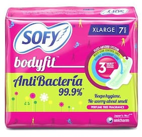 Sofy Sanitary Pads - Body Fit Antibacteria, XLarge 7 pcs