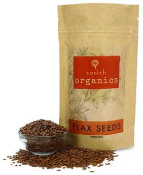Sorich Organics flax Seeds Fibre and Omega-3 Rich Superfood - 400 g