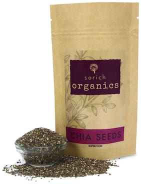 Sorich Organics Chia Seeds  Protein and fibre Rich Superfood -400gm
